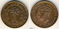 1 Cent Sri Lanka/Ceylon Bronze George VI (1895-1952)