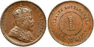 1 Cent Straits Settlements (1826 - 1946) Bronze Edward VII (1841-1910)