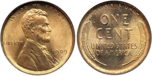 1 Cent Vereinigten Staaten von Amerika (1776 - ) Bronze Abraham Lincoln (1809-1865)