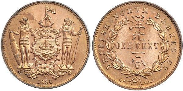 1 Cent North Borneo (1882-1963) Bronze/Copper