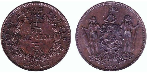 1 Cent North Borneo (1882-1963) Bronze/Copper
