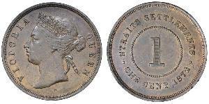 1 Cent Straits Settlements (1826 - 1946) Bronze/Copper Victoria (1819 - 1901)