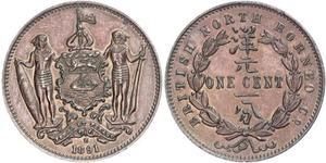 1 Cent North Borneo (1882-1963) Bronze/Kupfer