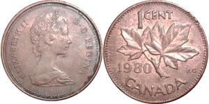 1 Cent Canada Bronzo Elisabetta II (1926-)