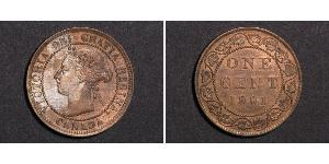 1 Cent Canada Bronzo Vittoria (1819 - 1901)