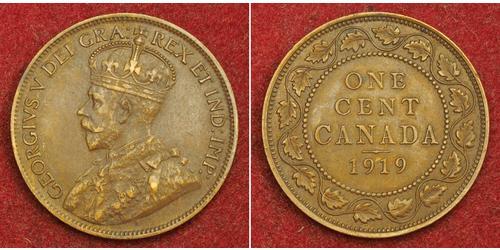 1 Cent Canada Bronzo Giorgio V (1865-1936)