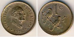 1 Cent Sudafrica Bronzo