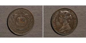1 Cent Terranova e Labrador Bronzo Vittoria (1819 - 1901)