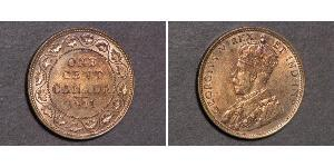 1 Cent Canadá Cobre Jorge V (1865-1936)