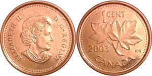 1 Cent Canadá Cobre Isabel II (1926-)