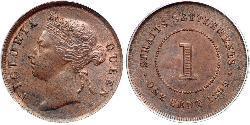 1 Cent Straits Settlements (1826 - 1946) Cobre