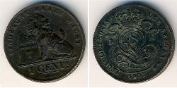 1 Cent Belgium Copper