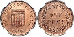 1 Cent Liberia Copper