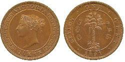1 Cent Sri Lanka/Ceylon Copper Victoria (1819 - 1901)