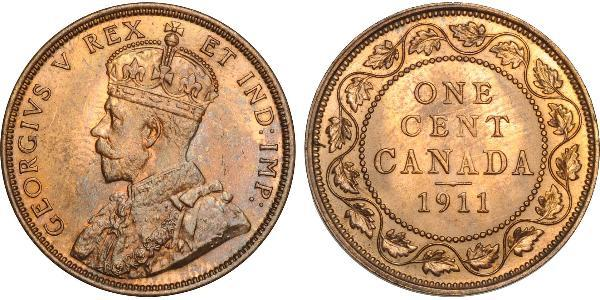 1 Cent Canada Cuivre George V (1865-1936)