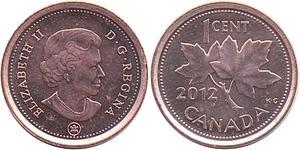 1 Cent Kanada Kupfer Elizabeth II (1926-)