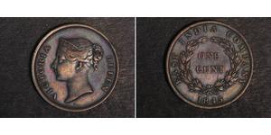 1 Cent Straits Settlements (1826 - 1946) Kupfer Victoria (1819 - 1901)