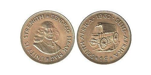 1 Cent Afrique du Sud Laiton