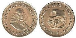1 Cent Sudáfrica Latón