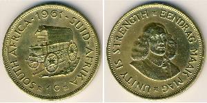1 Cent Südafrika Messing