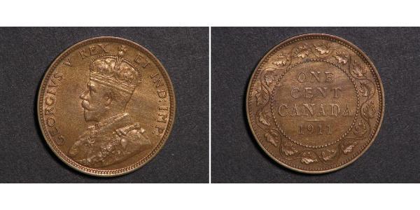 1 Cent Canada Rame Giorgio V (1865-1936)