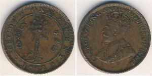 1 Cent Sri Lanka Rame Giorgio V (1865-1936)