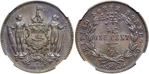1 Cent Borneo del Nord (1882-1963) Rame/Bronzo