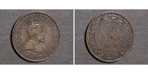 1 Cent 加拿大 Tin/銅/Zinc 爱德华七世 (1841-1910)