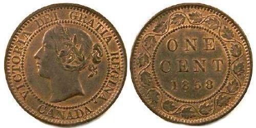 1 Cent 加拿大 Tin/銅/Zinc 维多利亚 (英国君主)