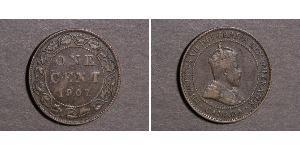 1 Cent Canadá Tin/Cobre/Zinc Eduardo VII (1841-1910)