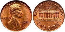 1 Cent Estados Unidos de América (1776 - ) Tin/Cobre/Zinc