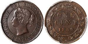 1 Cent Canada Tin/Copper/Zinc Victoria (1819 - 1901)