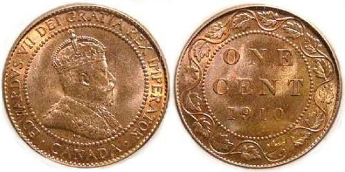 1 Cent Canada Tin/Copper/Zinc Edward VII (1841-1910)