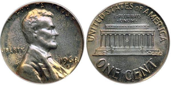 1 Cent USA (1776 - ) Tin/Copper/Zinc Abraham Lincoln (1809-1865)