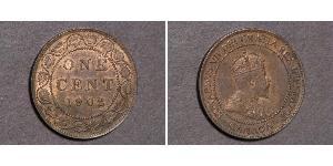 1 Cent Canada Tin/Rame/Zinco Edoardo VII (1841-1910)