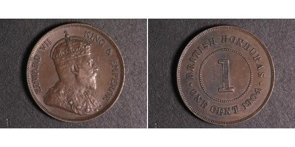 1 Cent British Honduras (1862-1981)  Edoardo VII (1841-1910)