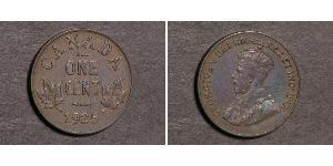 1 Cent Canadá  Jorge V (1865-1936)