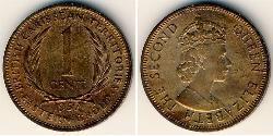 1 Cent   Elizabeth II (1926-)