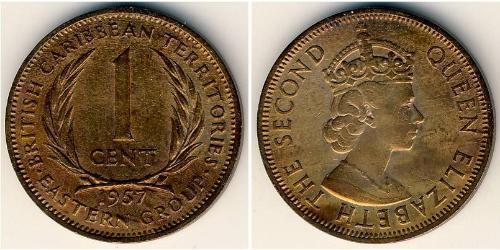 1 Cent   Isabel II (1926-)