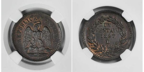 1 Centavo United Mexican States (1867 - ) Copper
