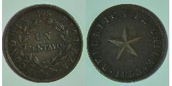 1 Centavo Chile Kupfer