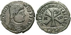 1 Centenionalis Impero romano (27BC-395) Bronzo Magnenzio (303-353)