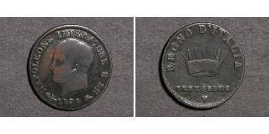 1 Centesimo 義大利王國 (拿破崙時代) (1805 - 1814) 銅 拿破仑一世(1769 - 1821)