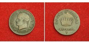 1 Centesimo Königreich Italien (1805–1814) Kupfer Napoleon Bonaparte(1769 - 1821)