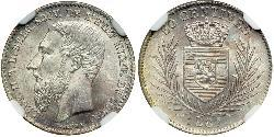 1 Centime Congo Free State (1885 - 1908) Silver Leopold II of Belgium(1835 - 1909)