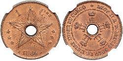 1 Centime Belgian Congo (1908 - 1960)