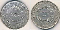 1 Colon Costa Rica Silver