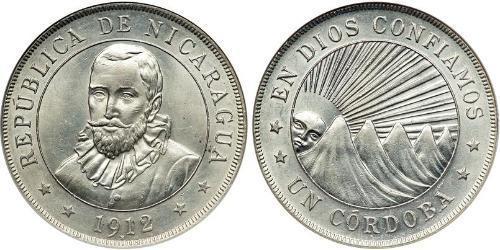 1 Cordoba Nicaragua Argento