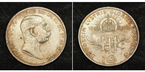 1 Corona Autriche-Hongrie (1867-1918) Argent Franz Joseph I (1830 - 1916)