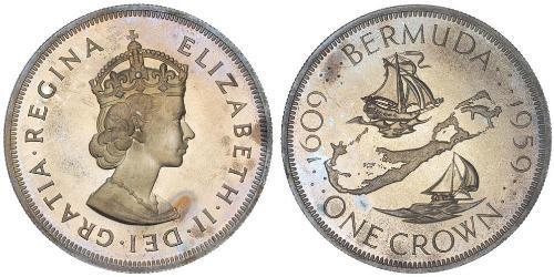 1 Corona Bermuda Argento Elisabetta II (1926-)